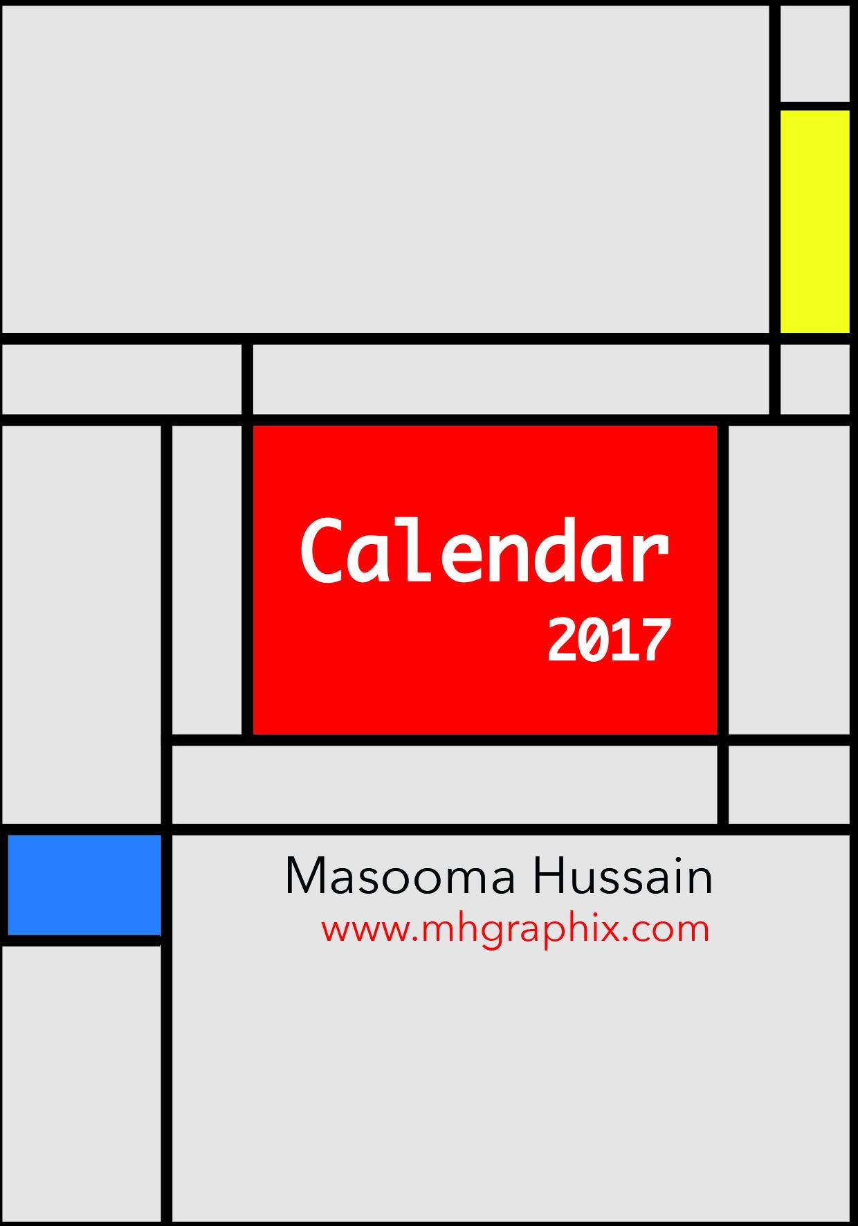 Calendar 2017 'De Stijl'